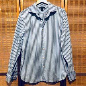 Express long sleeve blue button down shirt